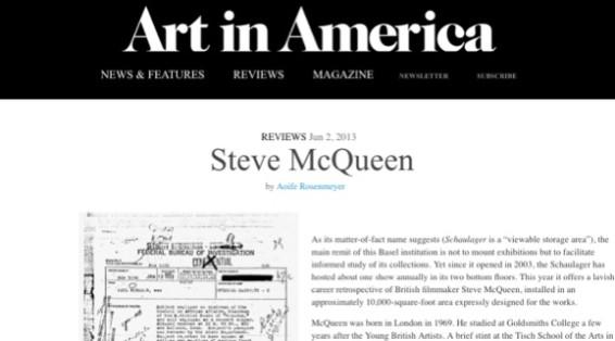 Steve McQueen at Schaulager