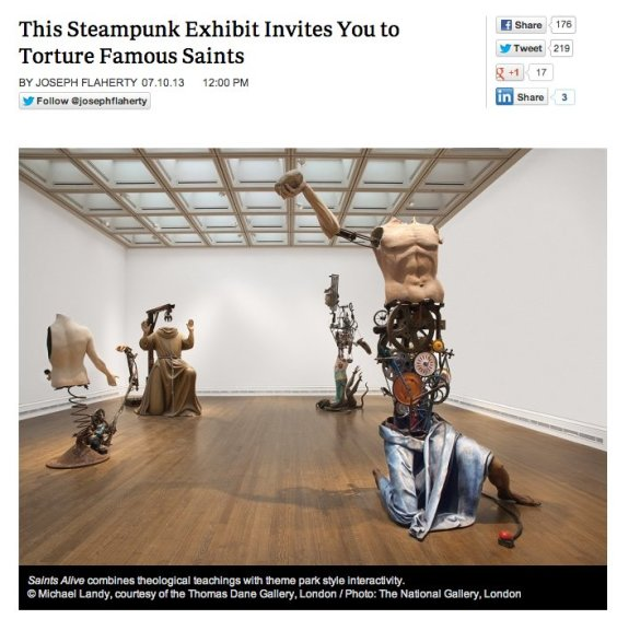This Steampunk Exhibit Invites You to Torture Famous Saints