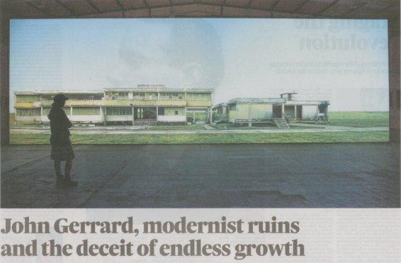 John Gerrard, modernist ruins and the deceit of endless growth