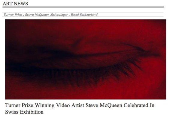 Turner Prize Winning Video Artist Steve McQueen Celebrated In Swiss Exhibition