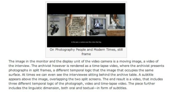 On photography People and Modern Times