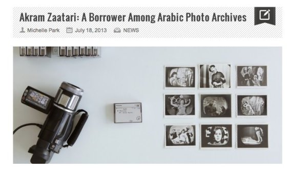 Akram Zaatari: A Borrower Among Arabic Photo Archives