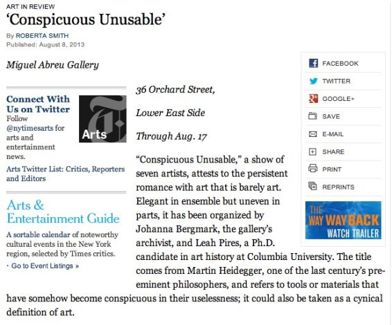 'Conspicuous Unsusable'