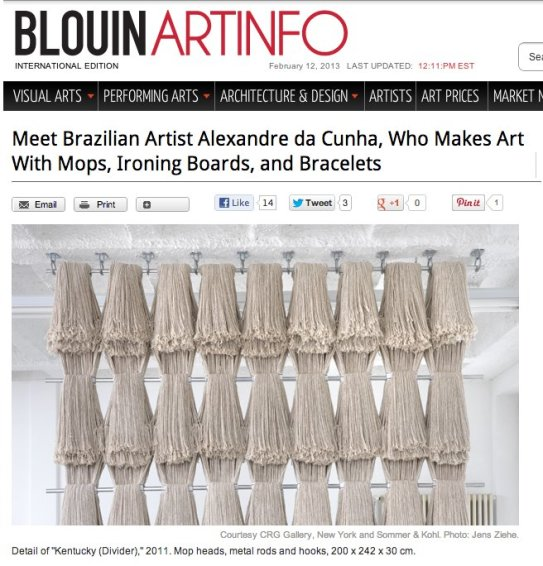 Meet Brazilian Artist Alexandre da Cunha, Who Makes Art With Mops, Ironing Boards, and Bracelets