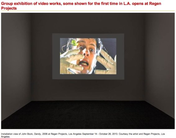 Group exhibition of video works, some shown for the first time in L.A. opens at Regen Projects