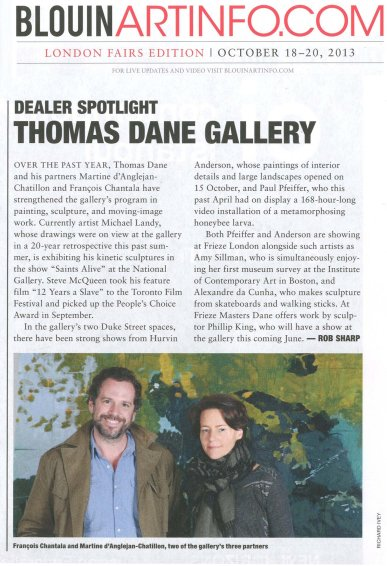 Dealer Spotlight: Thomas Dane Gallery