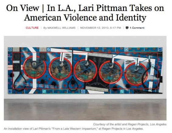 On View | In L.A., Lari Pittman Takes on American Violence and Identity