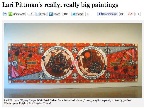 Lari Pittman's really, really big paintings