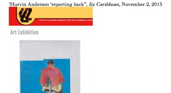 Hurvin Anderson 'reporting back'
