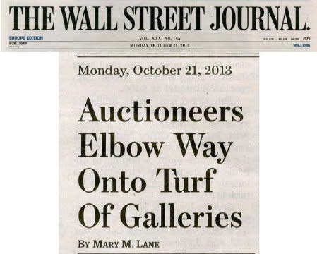 Auctioneers Elbow Way Onto Turf of Galleries