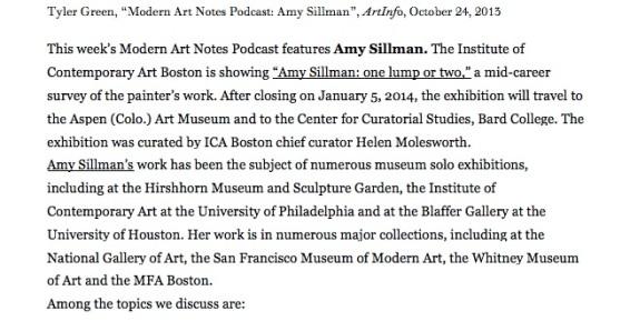 Modern Art Notes Podcast: Amy Sillman