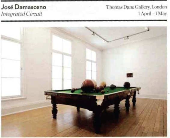 Review: Jose Damasceno at the Thomas Dane Gallery