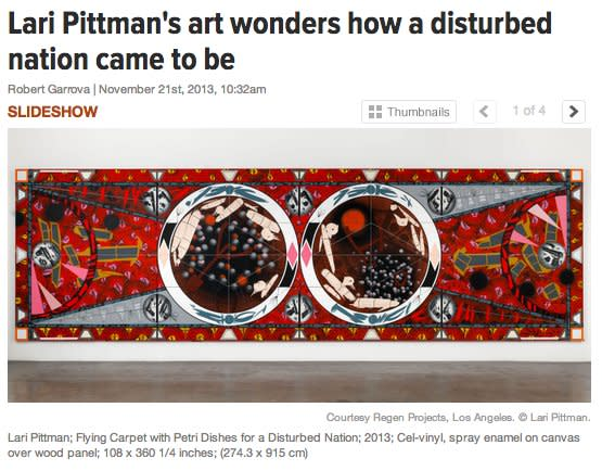 Lari Pittman's art wonders how a disturbed nation came to be