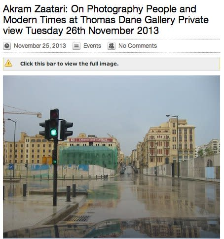 Akram Zaatari: On Photography People and Modern Times at Thomas Dane Gallery