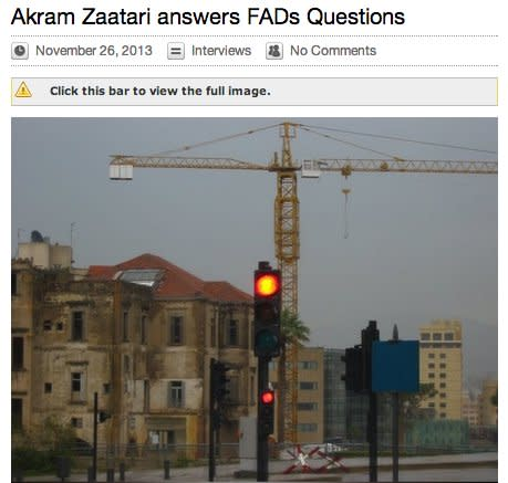 Akram Zaatari answers FAD's Questions