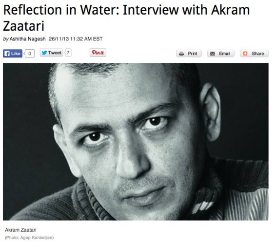Reflection in Water: Interview with Akram Zaatari