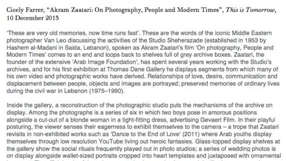 Akram Zaatari: On Photography, People and Modern Times