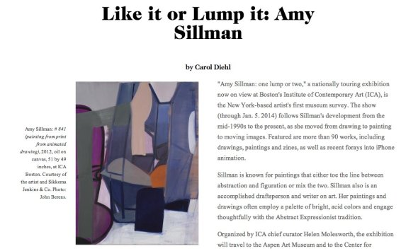 Like it or Lump it: Amy Sillman