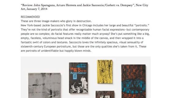 Review: John Sparagana, Arturo Herrera and Jackie Saccoccio/Corbett vs. Dempsey
