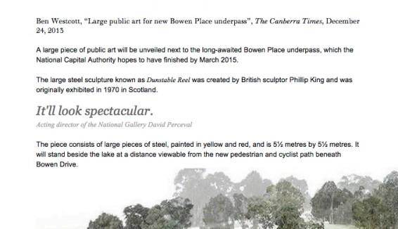 Large public art for new Bowen Place underpass