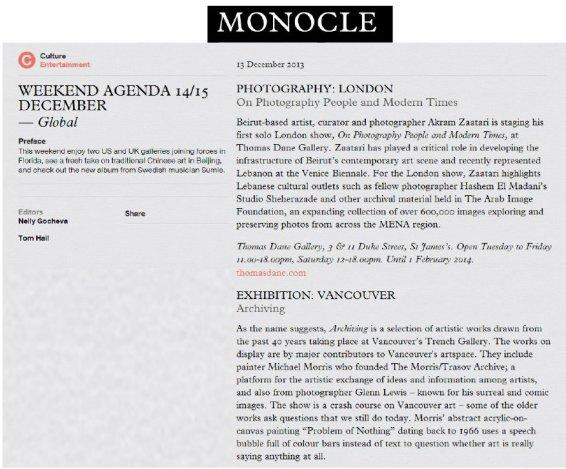 Weekend Agenda: 14/15 December 2013