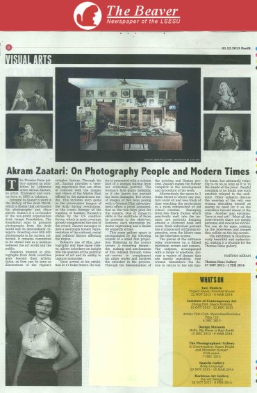 Akram Zaatari: On Photography People and Modern Times