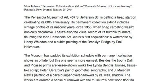 Permanent Collection show kicks off Pensacola Museum of Art's anniversary