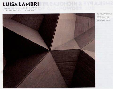 Review: Luisa Lambri