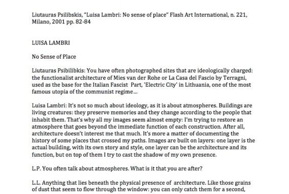 Luisa Lambri: No sense of place