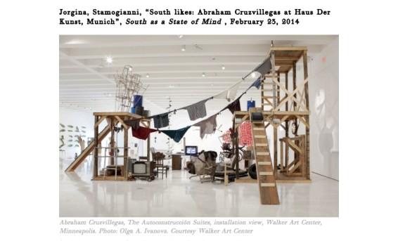 South likes: Abraham Cruzvillegas at Haus Der Kunst, Munich