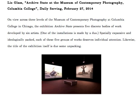 Archive State at the Museum of Contemporary Photography, Columbia College