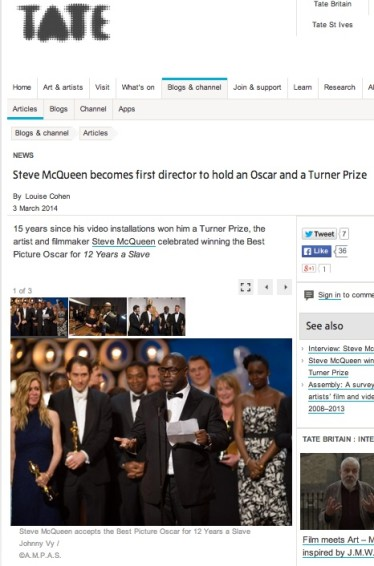 Steve McQueen becomes first director to hold an Oscar and a Turner Prize
