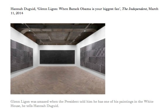 Glenn Ligon: When Barack Obama is your biggest fan
