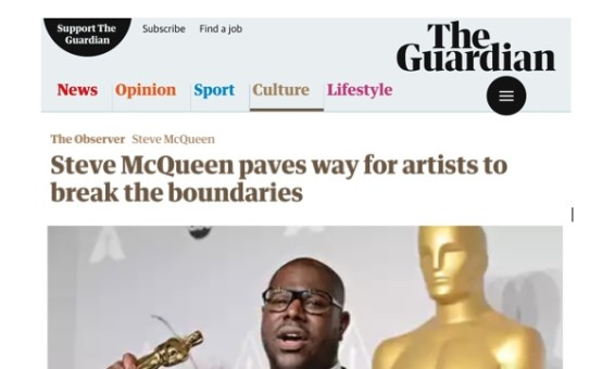 Steve McQueen paves way for artists to break the boundaries