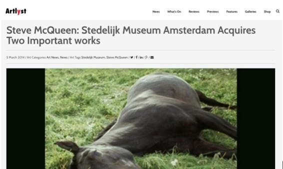 Steve McQueen: Stedelijk Museum Amsterdam Acquires Two Important works
