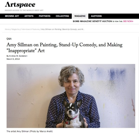 Amy Sillman on Painting, Stand-Up, Comedy, and Making