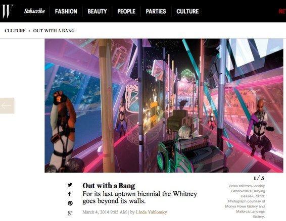 Out With A Bang: For it's last uptown biennial the Whitney  goes beyond its walls