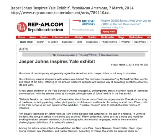 Jasper Johns inspires Yale exhibit