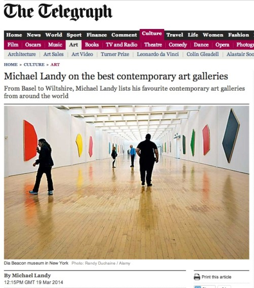Michael Landy on the best contemporary art galleries