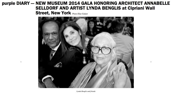 New Museum 2014 Gala Honoring Architect Annabelle Selldorf and Artist Lynda Benglis at Cipriani Wall Street, New York