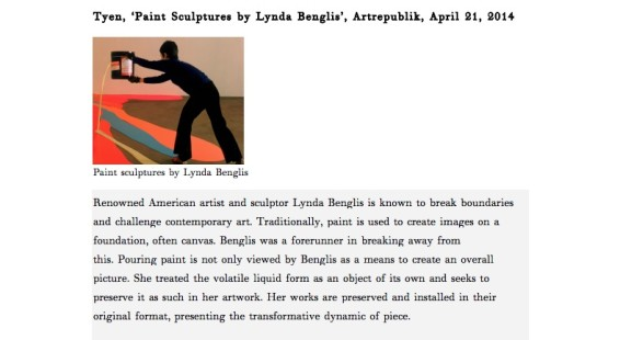 Paint Sculptures by Lynda Benglis