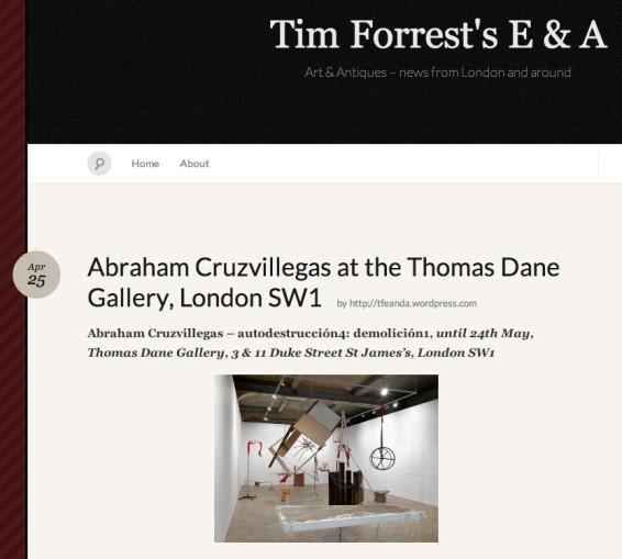 Abraham Cruzvillegas at the Thomas Dane Gallery, London SW1