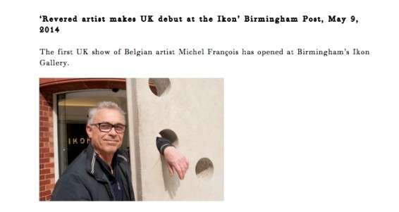 Revered artist makes UK debut at the Ikon'