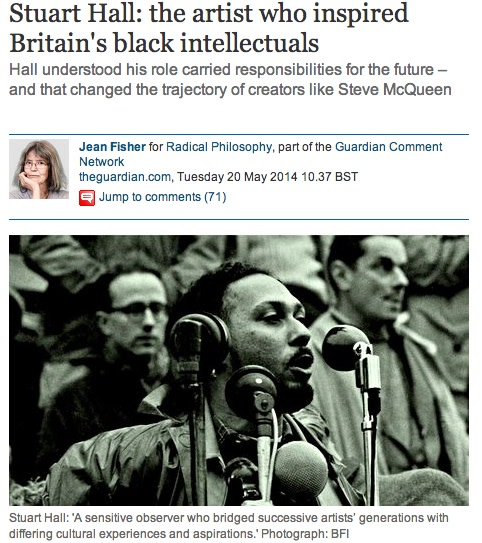 Stuart Hall: the artist who inspired Britain's black intellectuals