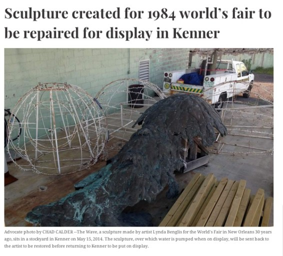 Sculpture created for 1984 world's fair to be repaired for display in Kenner