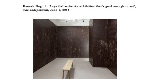 Anya Gallaccio: An exhibition that's good enough to eat