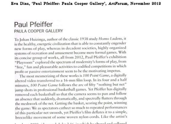 Paul Pfeiffer: Paula Cooper Gallery