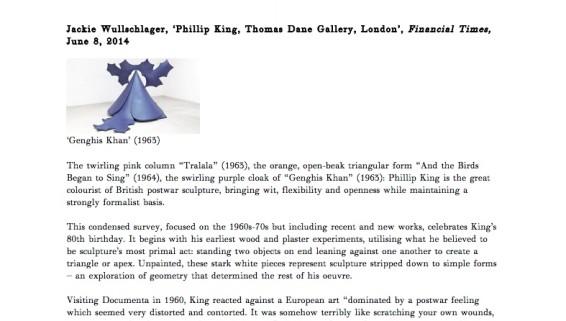 Phillip King, Thomas Dane Gallery, London