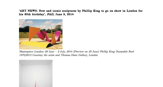 Art News: New and iconic sculptures by Phillip King to go on show in London for his 80th birthday