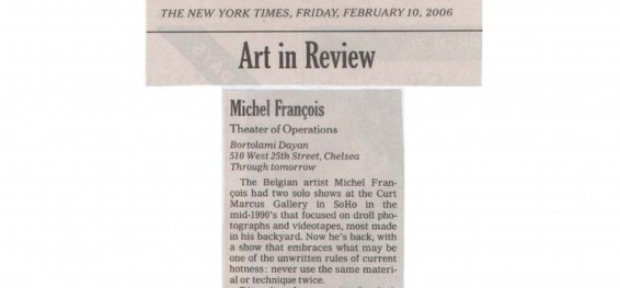 Michel Francois: Theater of Operation